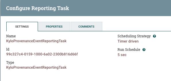 NiFi & Kylo Reporting Task (deprecated) — Kylo 0 8 2